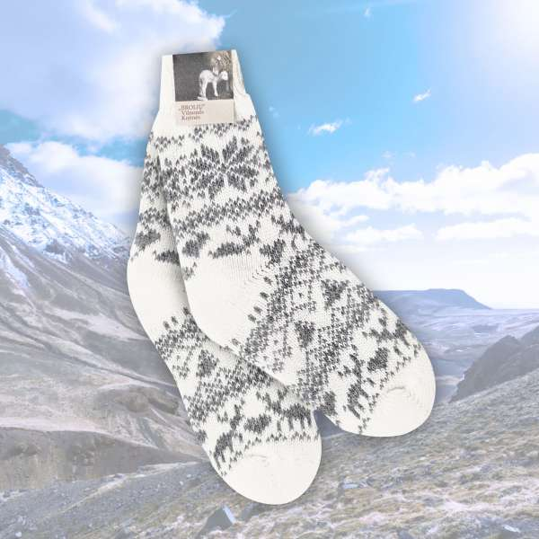 Merino Socken Rentier (grau)