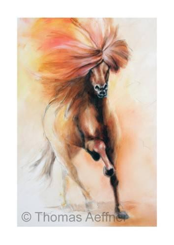 Kunst-auf-Island-Gem-lde-Islandpferd