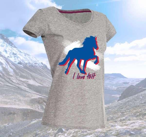 """""""I love tölt"""" T-Shirt"""